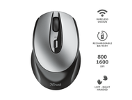 Мишки TRUST Zaya Rechargeable Wireless Mouse - black