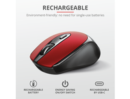 Мишки TRUST Zaya Wireless Rechargeable Mouse Red